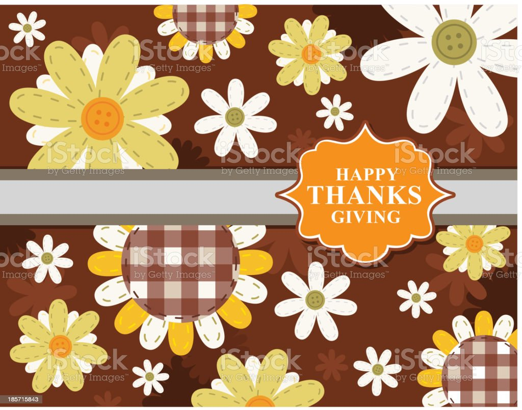 Happy Thanks Giving Sign Design Card Label royalty-free stock vector art