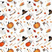 Happy thanksgiving abstract background in 80s style.