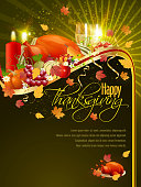 Happy Thanksgiving Background. Each element in a separate layers. Very easy to edit vector EPS10 file. It has transparency layers with blend effects.