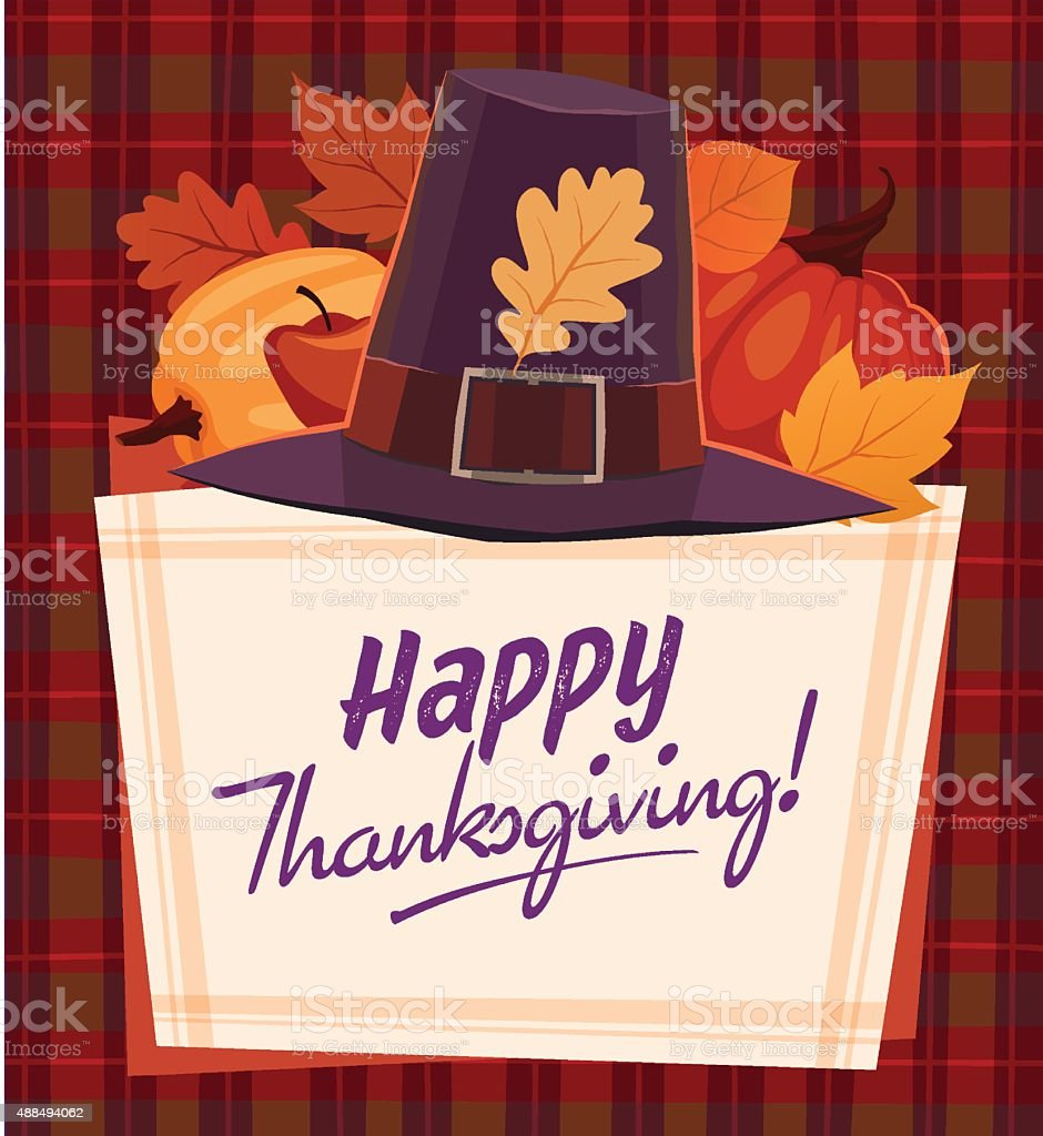 Happy Thanksgiving Card Background Poster Vector