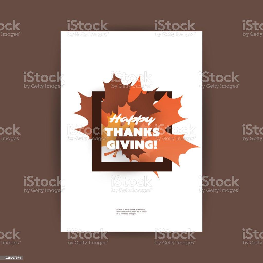 happy thanksgiving card design template stock vector art more