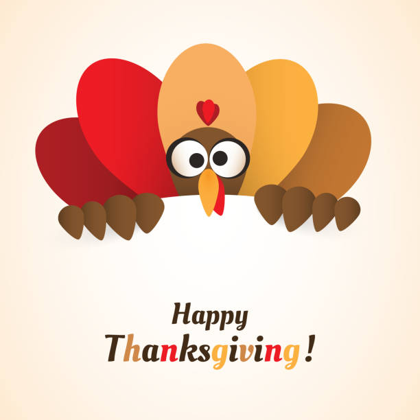 ilustraciones, imágenes clip art, dibujos animados e iconos de stock de happy thanksgiving day card plantilla de diseño de - turkey
