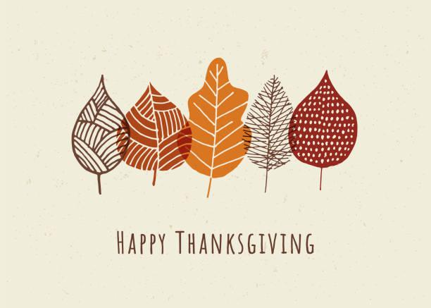 秋葉快樂感恩節賀卡。 - happy thanksgiving 幅插畫檔、美工圖案、卡通及圖標