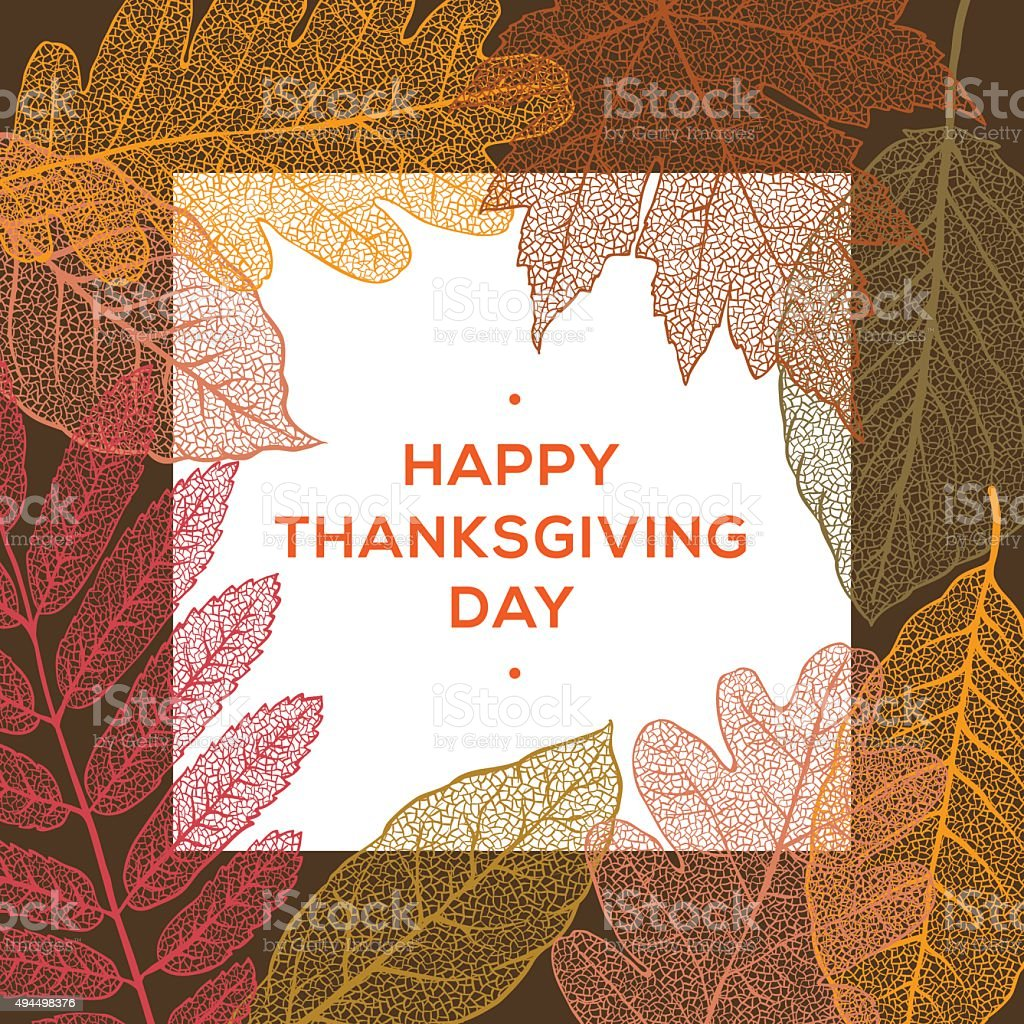 Happy thanksgiving day, autumn holiday background vector art illustration