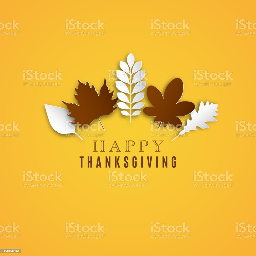 Happy Thanksgiving Day background vector art illustration