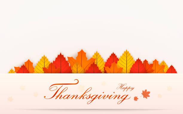 stockillustraties, clipart, cartoons en iconen met happy thanksgiving day banner. herfst vervagen achtergrond. vectorillustratie - vogel herfst