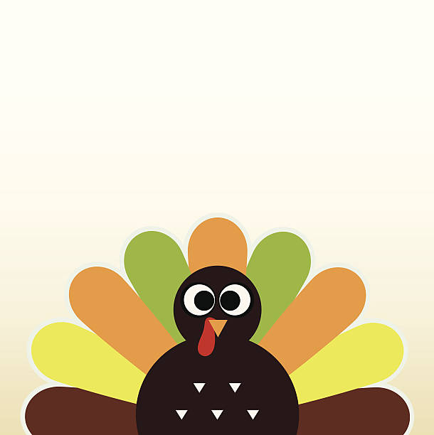 Royalty Free Drawing Of A Brightly Colored Turkey Clip Art, Vector ...