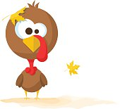 Happy Thanksgiving Day celebration design with cartoon turkey.