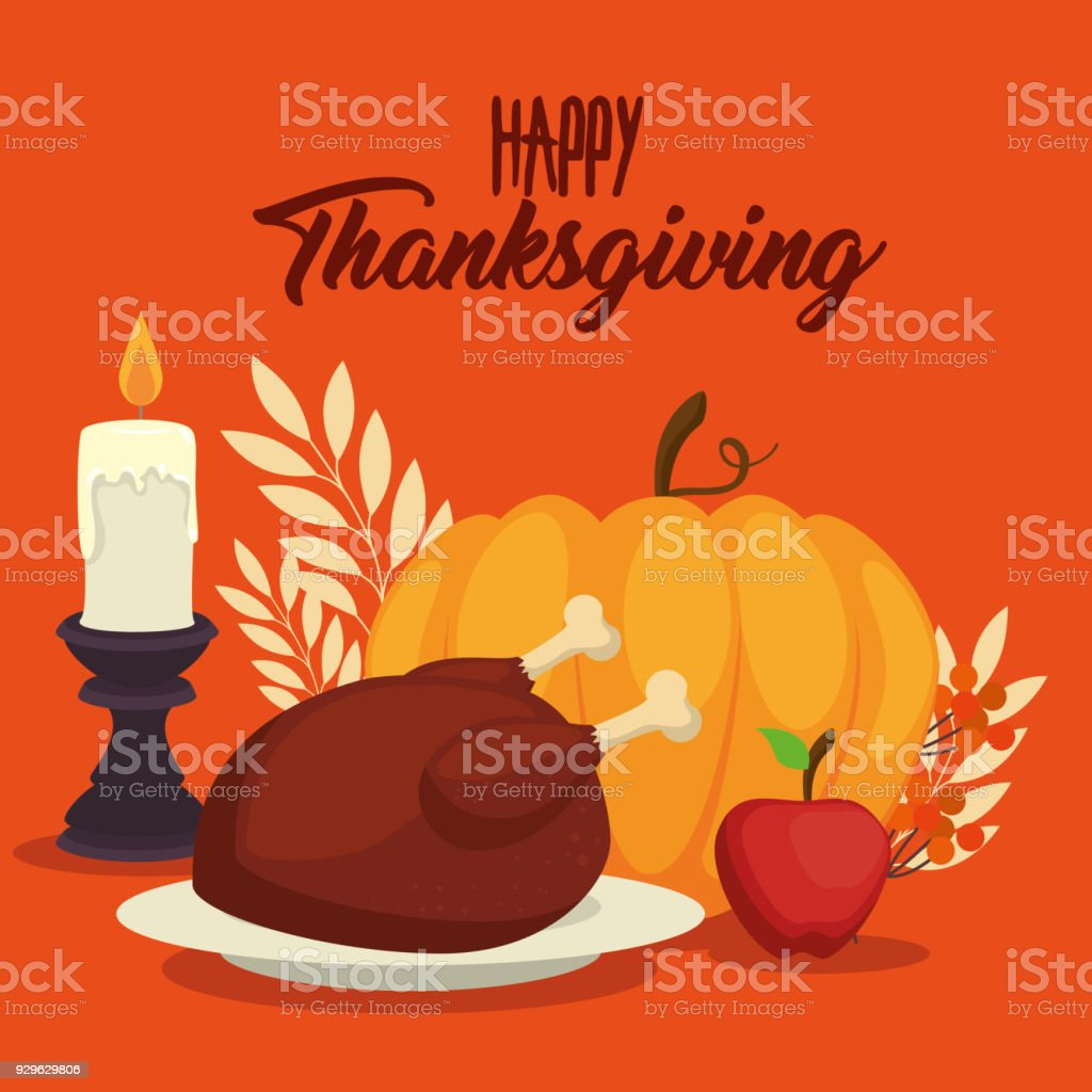 Happy Thanksgiving Day Greeting Card Stock Vector Art More Images