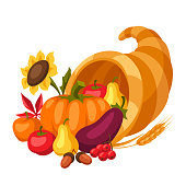 istock Happy Thanksgiving Day horn of plenty. 1173156074