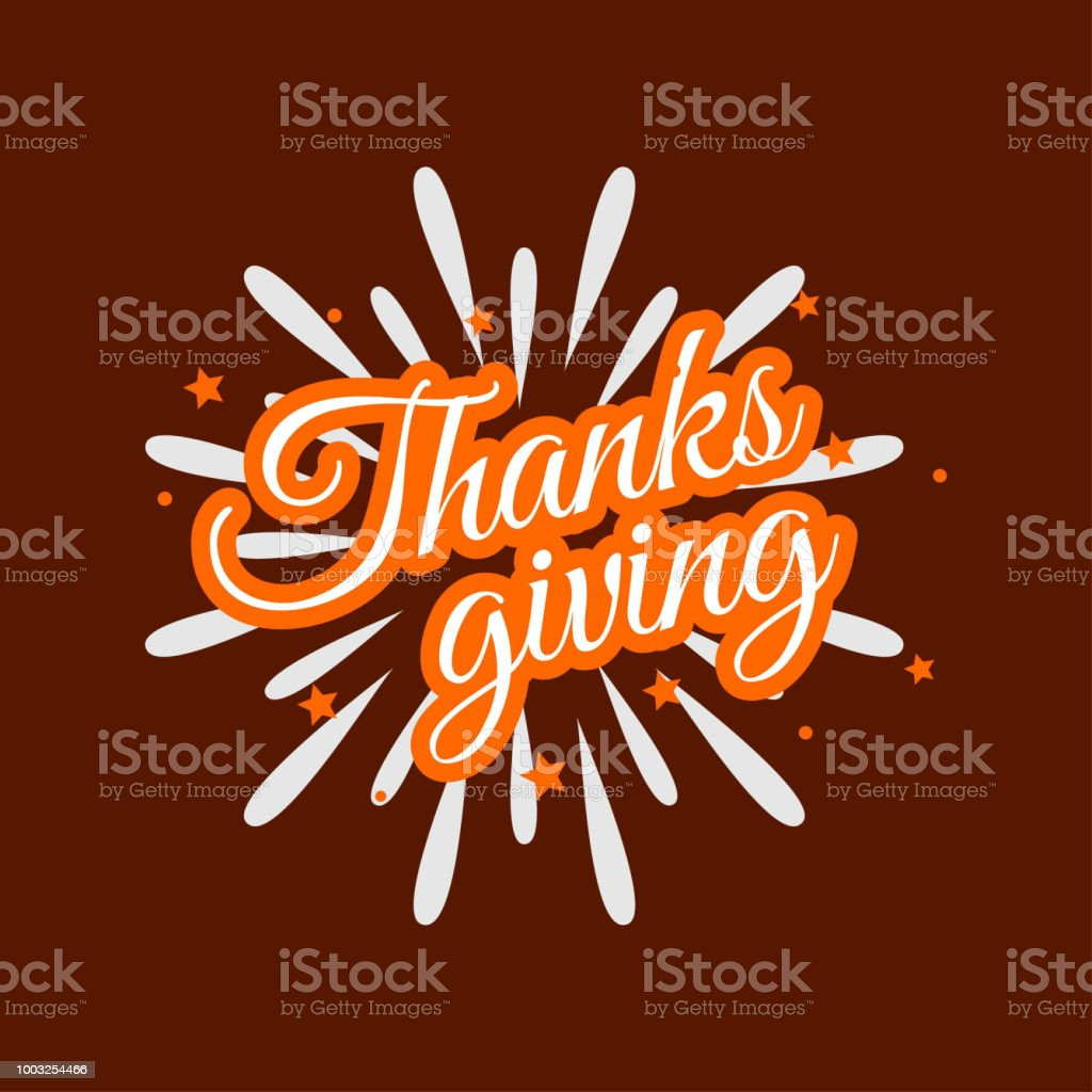 Happy Thanksgiving Day. Thanksgiving Day Creative and Beautiful Typography in different colors for commercial use on Brown Background vector art illustration