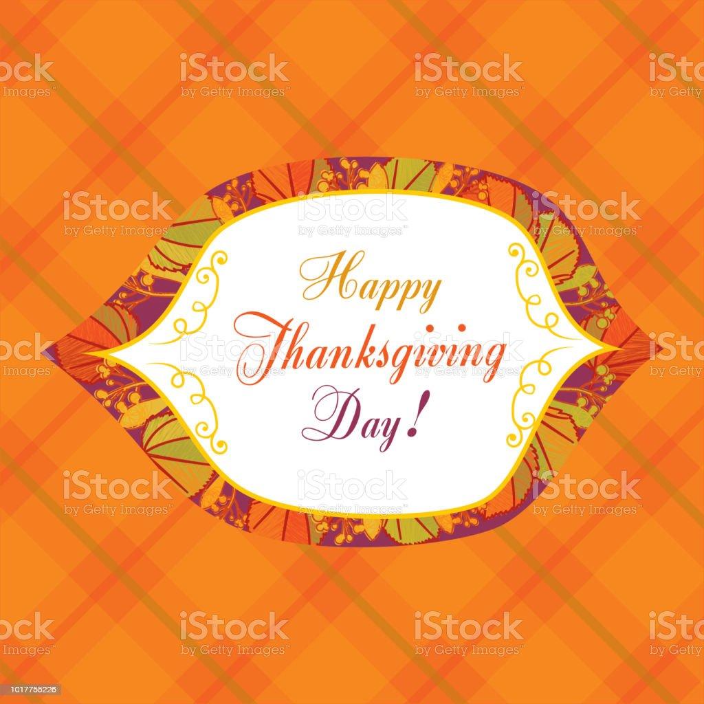 Happy Thanksgiving Day! vector art illustration