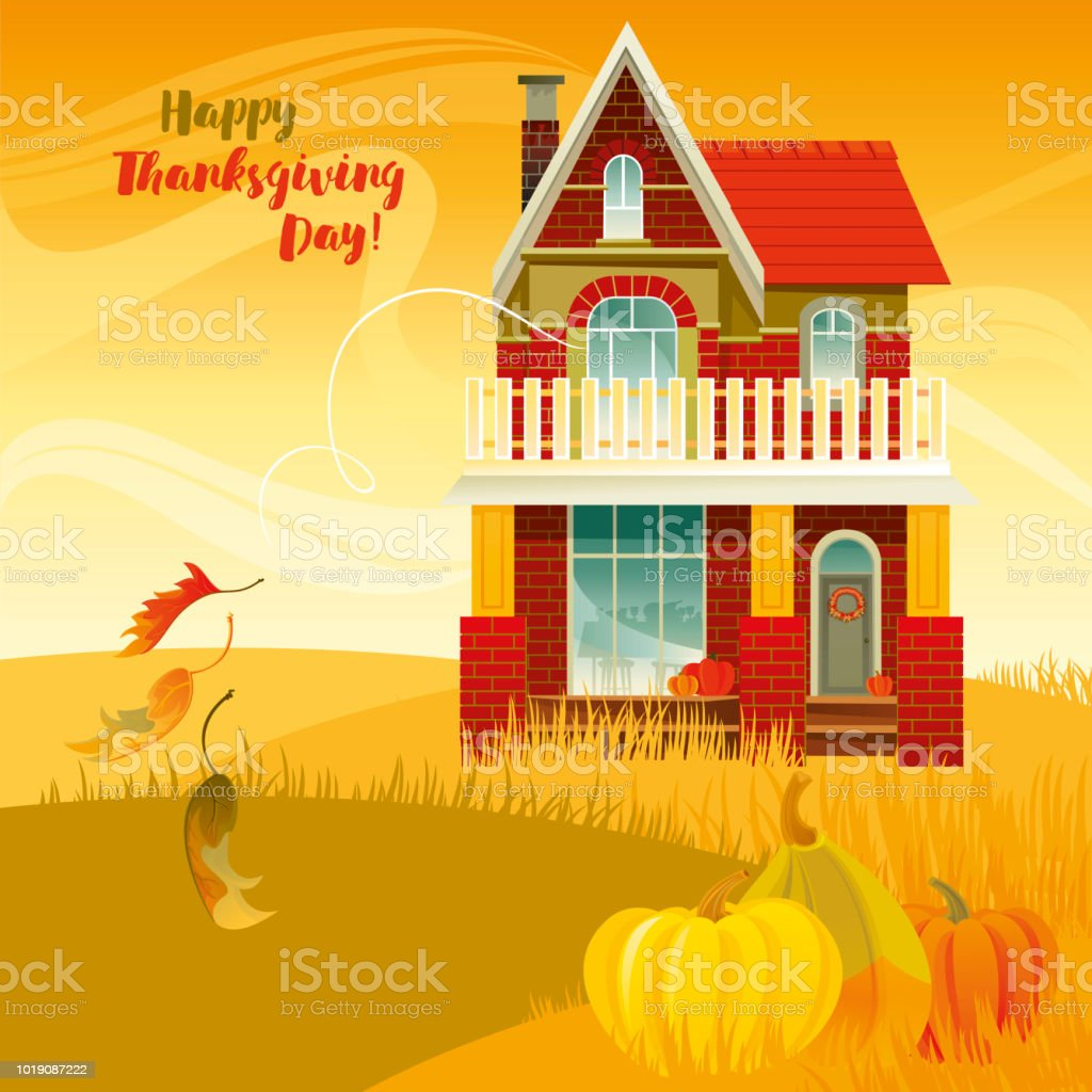 Happy Thanksgiving Day! royalty-free happy thanksgiving day stock illustration - download image now
