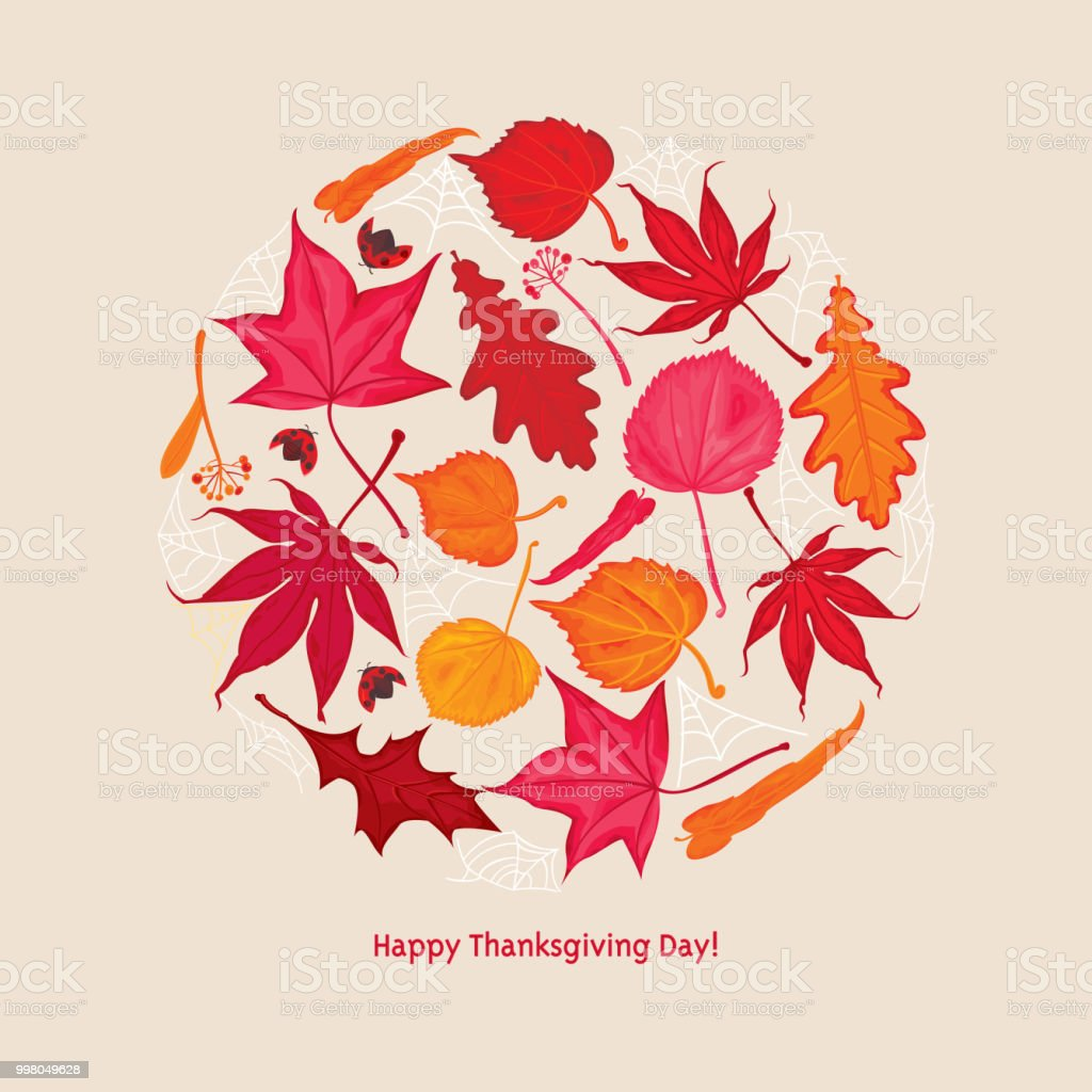 Happy Thanksgiving Day! vector art illustration