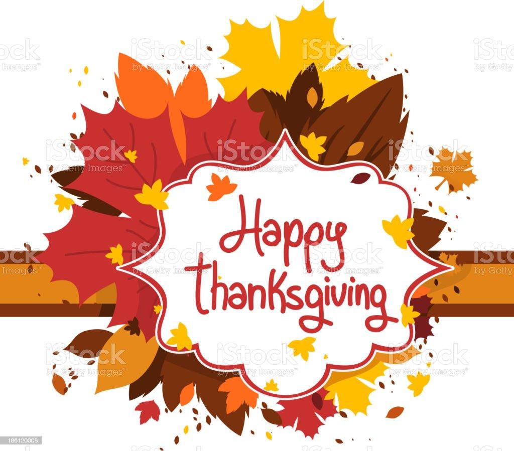 Happy Thanksgiving Design Banner Sign Royalty Free Stock Vector Art