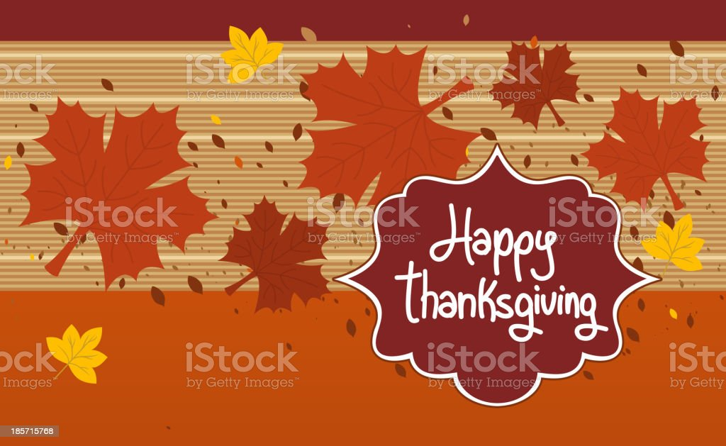 Happy Thanksgiving Design Sign Card Label royalty-free stock vector art