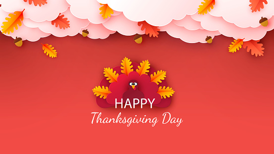 Happy Thanksgiving greeting card, poster, banner, flyer.