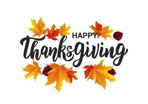 Happy Thanksgiving Hand Lettering Text Typography For Logo Icon Card Invitation And Banner Template Greeting Card For Thanksgiving Day Celebration - Stockowe grafiki wektorowe i więcej obrazów Czarny kolor