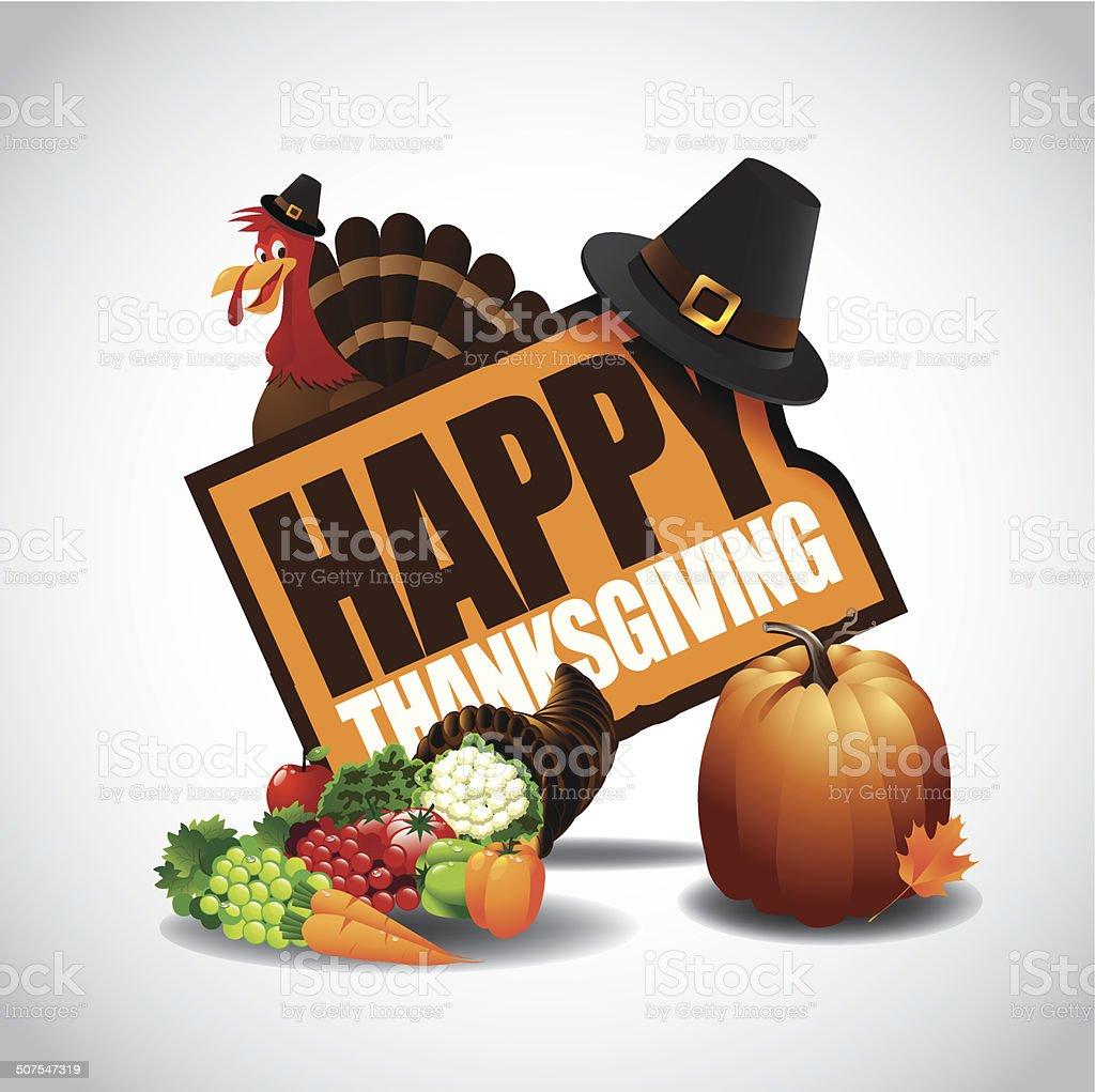 Happy Thanksgiving icon royalty-free stock vector art