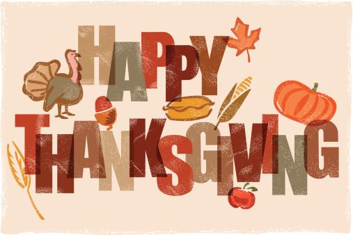 Happy Thanksgiving message illustration