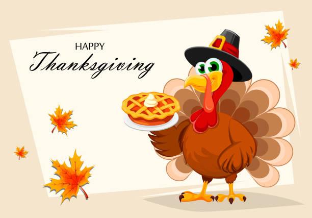 happy thanksgiving. thanksgiving turkey - thanksgiving turkey stock illustrations