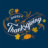 happy thanksgiving, Typographic, caligraphy, Type , vector
