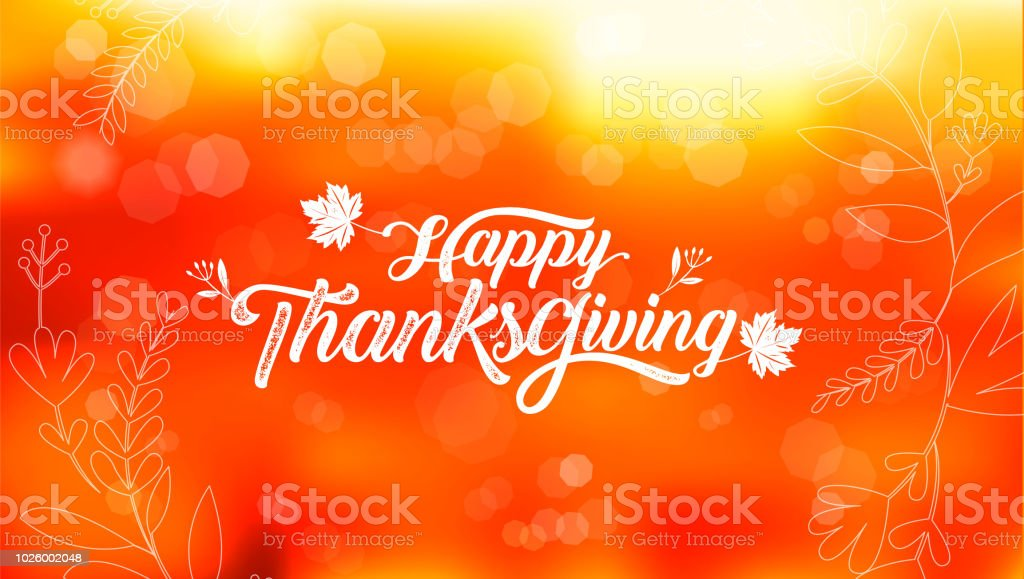 Happy Thanksgiving typography poster. Celebration text , badge. Vector calligraphy vector art illustration