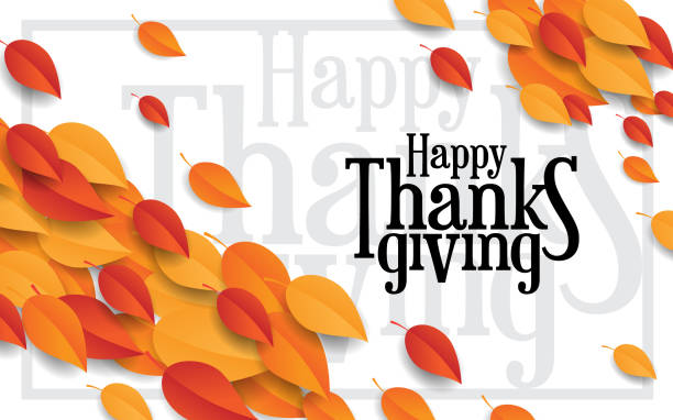 Happy thanksgiving happy thanksgiving with leaf background autumn leaf color stock illustrations