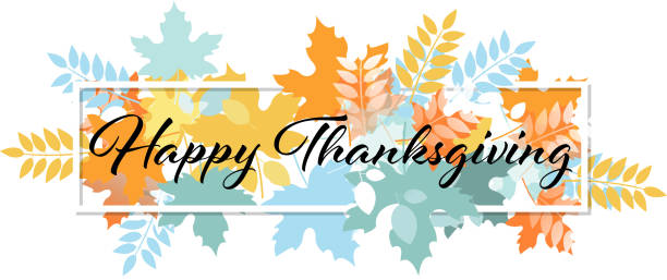 happy thanksgiving - thanksgiving stock illustrations