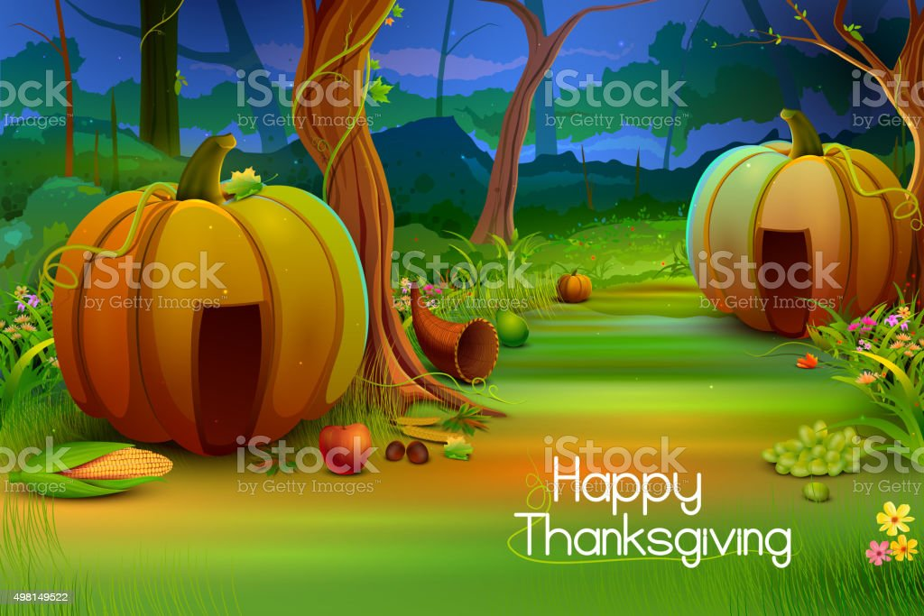 Happy Thanksgiving Wallpaper Background Stock Illustration Download Image Now Istock