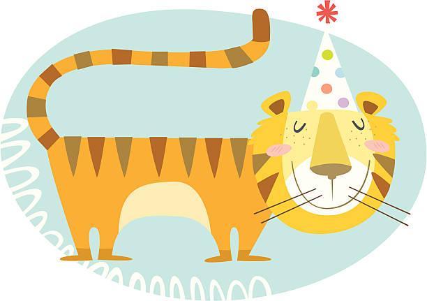 happy tiger year! vektorkonstillustration