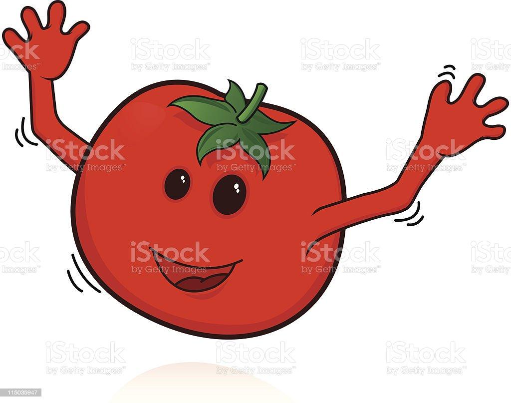Happy tomatoes vector art illustration