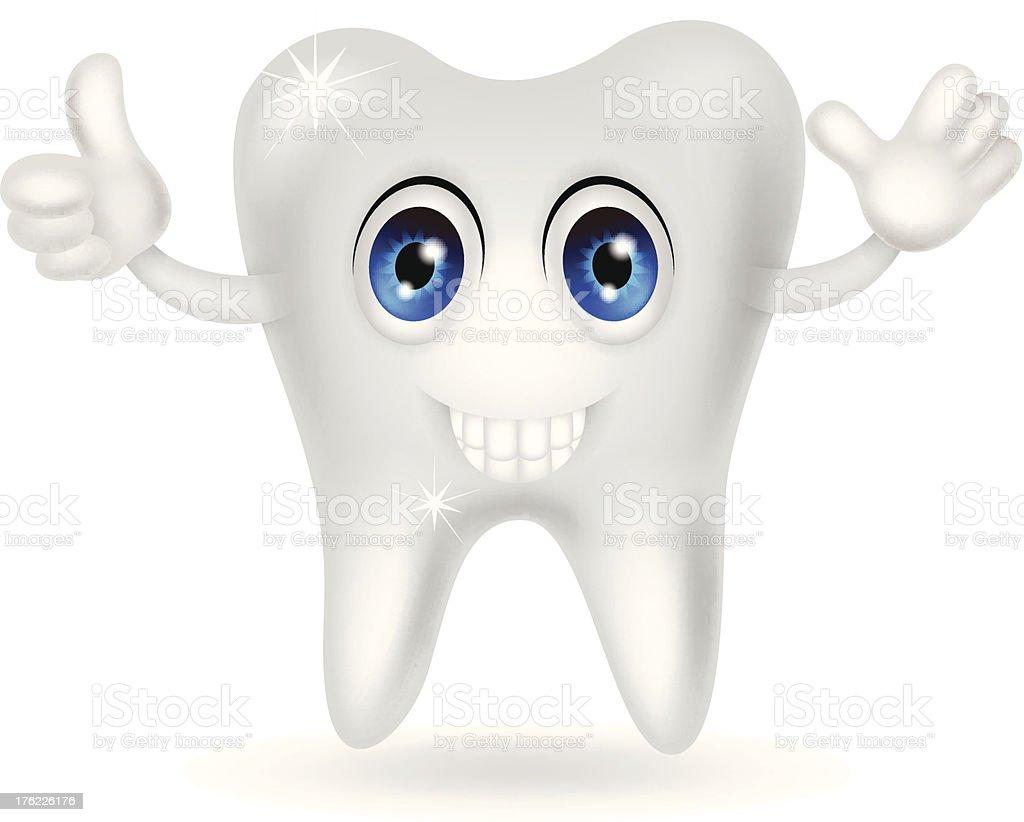happy tooth cartoon royalty-free stock vector art