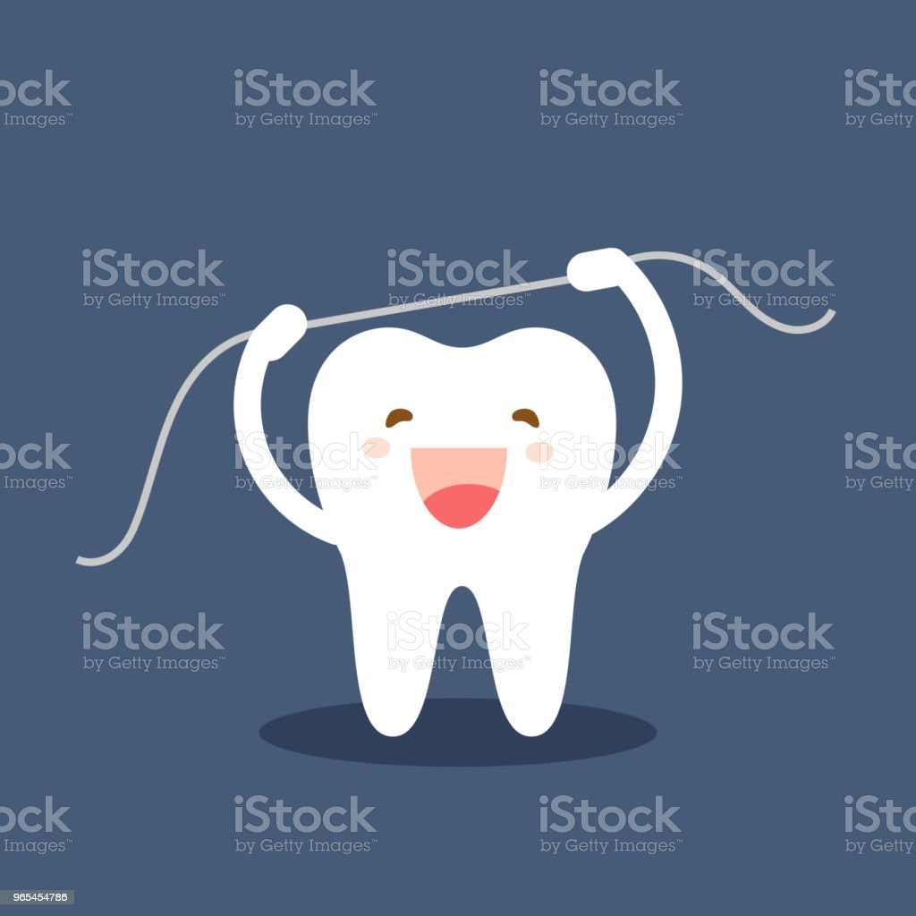 Happy tooth icon. Cute tooth characters. Brushing teeth flossing. Dental personage vector illustration. Oral hygiene, teeth cleaning. Flat illustration on the theme of dentistry. Isolated vector. happy tooth icon cute tooth characters brushing teeth flossing dental personage vector illustration oral hygiene teeth cleaning flat illustration on the theme of dentistry isolated vector - stockowe grafiki wektorowe i więcej obrazów biały royalty-free