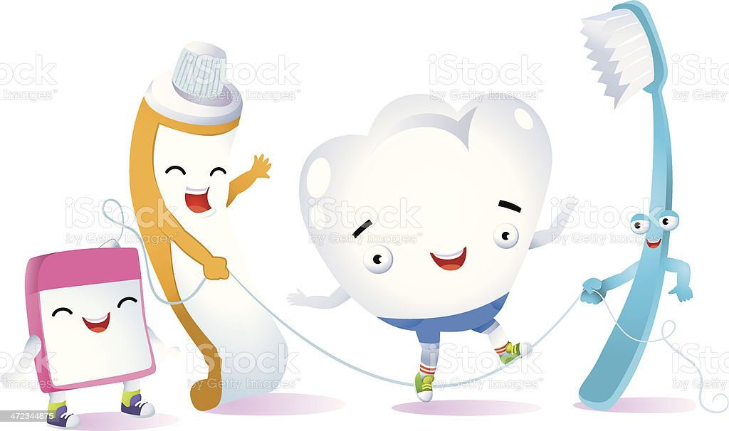 happy tooth royalty-free stock vector art