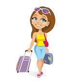 istock happy tourist woman 1275867619