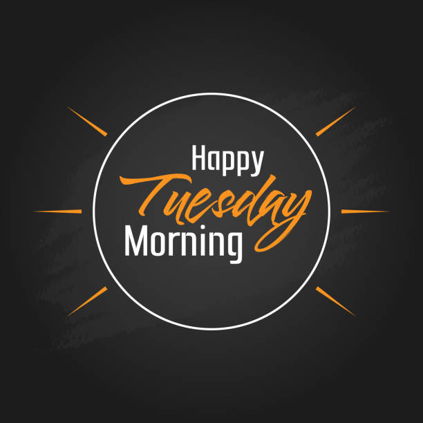 happy tuesday morning vector template design - happy holidays stock illustrations