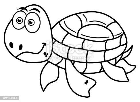 istock Tortuga feliz colorear 482868390 istock Tortuga feliz colorear ...