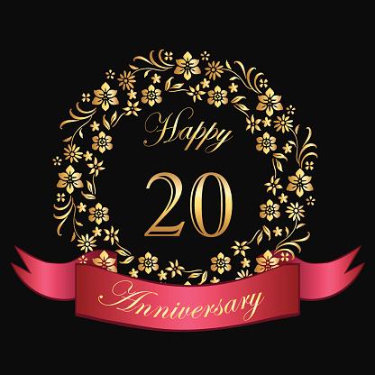 Happy Twentieth Anniversary Card