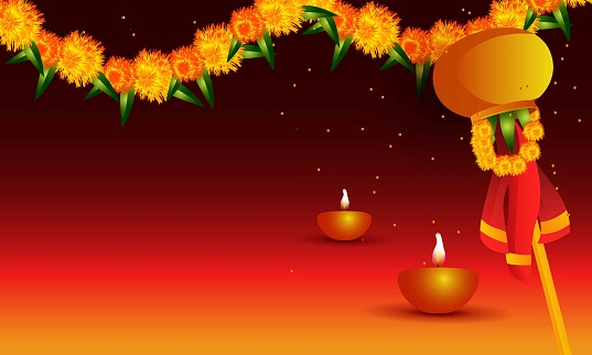 Happy Ugadi indian holiday,Traditional fastival background.stock illustration