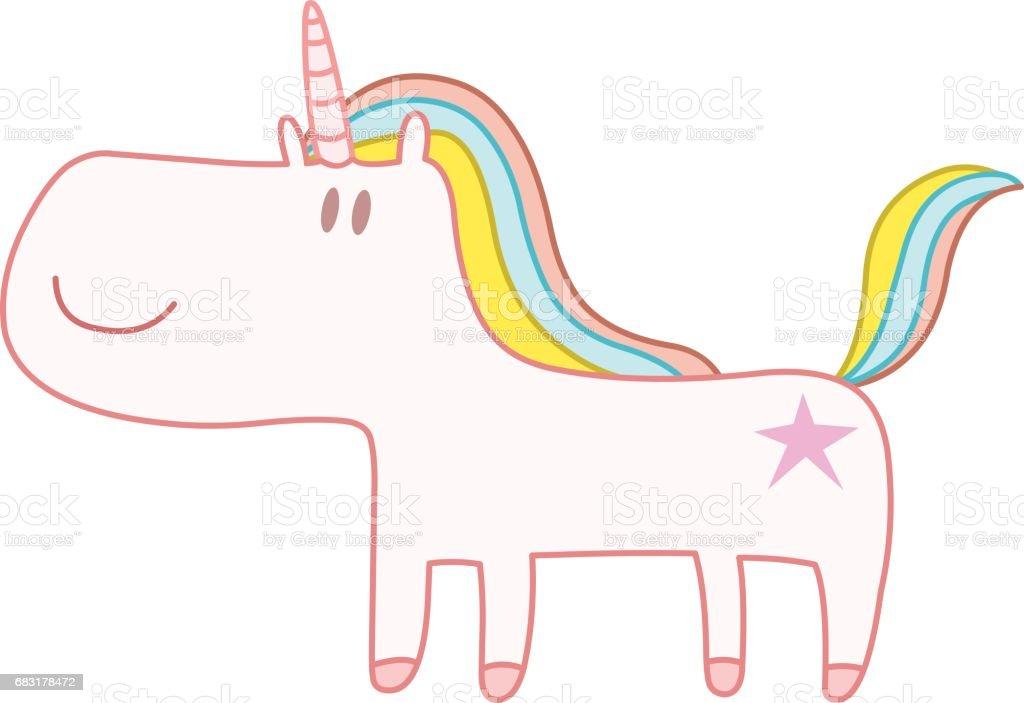 快樂的獨角獸 免版稅 快樂的獨角獸 向量插圖及更多 人的臉部 圖片