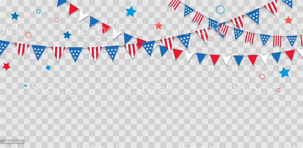 Happy USA Independence Day 4 th July. American holiday celebration Happy USA Independence Day 4 th July. American holiday celebration. Banner and poster design Anniversary stock vector