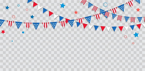 Happy Usa Independence Day 4 Th July American Holiday Celebration Stock Illustration - Download Image Now