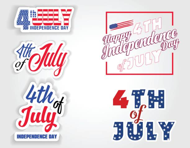 happy usa independence day fourth of july celebrate - fourth of july stock illustrations