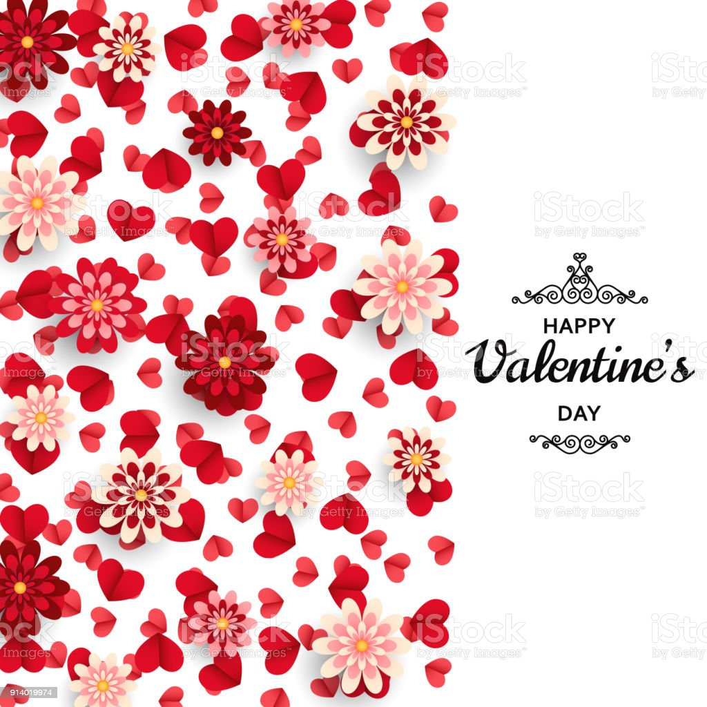 Happy Valentine Day Background Good Design Template For Banner