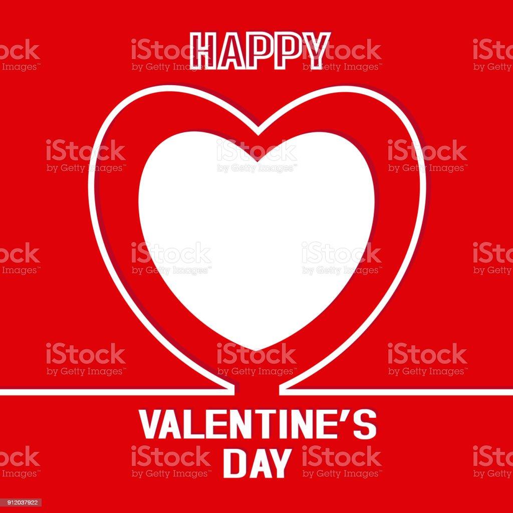 Happy valentines card