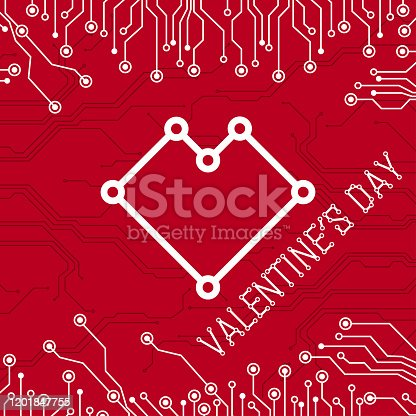 Happy Valentine's day Abstract Technology