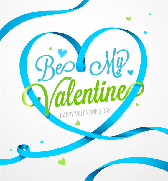 Happy valentines day and weeding design elements. Happy Valentines Day card Happy valentines day and weeding design elements. Happy Valentines Day card vector illustration. Heart Blue vector ribbon you re awesome stock illustrations