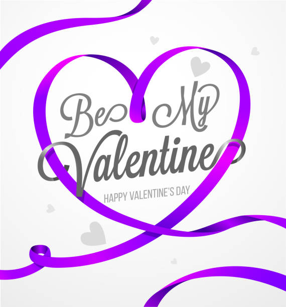 Happy valentines day and weeding design elements. Purple Happy Valentines Day card Happy valentines day and weeding design elements. Purple Happy Valentines Day card vector illustration. Heart Violet vector ribbon you re awesome stock illustrations