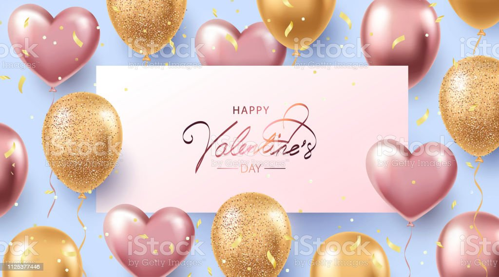 Happy Valentine's Day background. Elegant holiday design with...